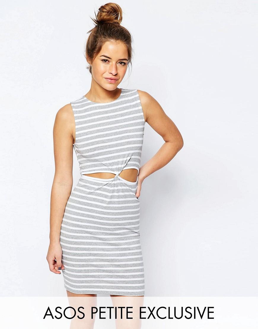 Image 1 - ASOS PETITE - Mini robe à rayures avec nœud sur le devant