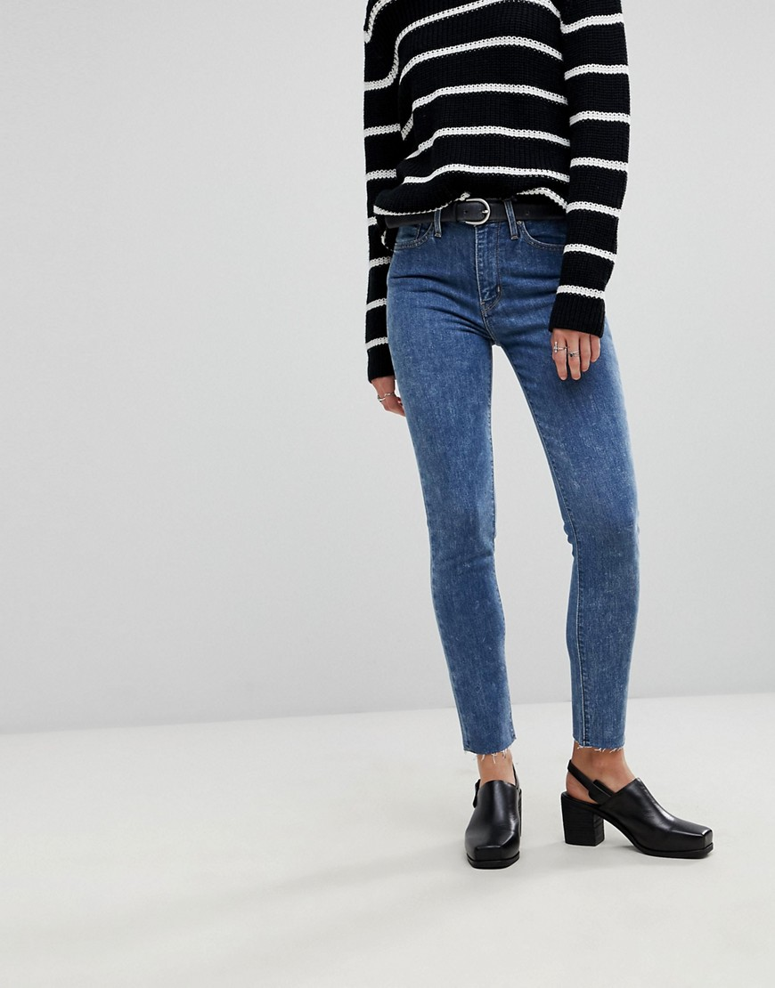 Levi's - 721 - Skinny-Jeans mit hohem Bund - Blau