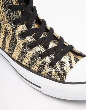 "Image 2 of Converse All Star Animal Print Hi Top Trainers ""Hipster trip to fleamarket follwed by microbrewery pub"""