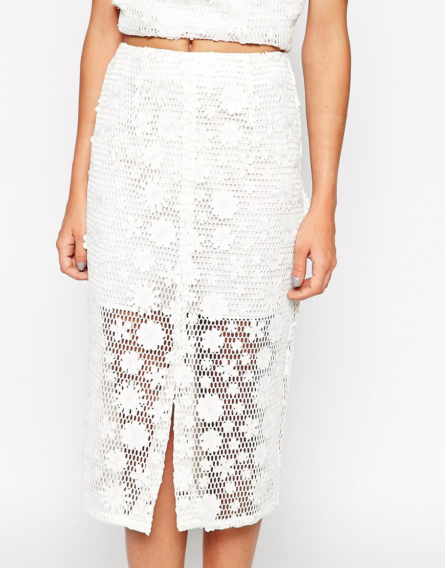 Image 3 ofASOS co-ord Pencil Skirt With Floral Applique