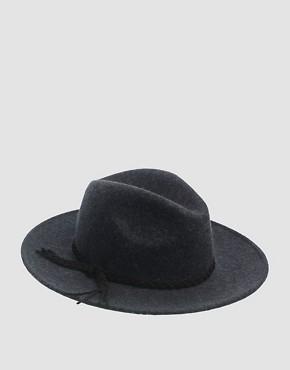 Image 2 ofASOS Grey Marl Braid Felt Fedora Hat