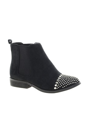 Image 1 of New Look Brixton Studded Toe Cap Ankle Boots