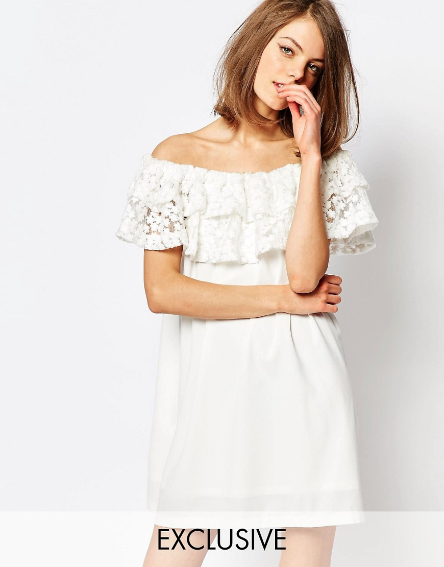 Resultado de imagen de Sister Jane Heritage Off Shoulder Bardot Dress