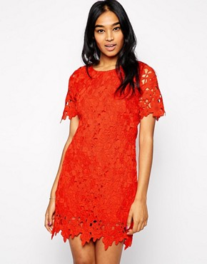 Image 1 ofAX Paris Crochet Shift Dress
