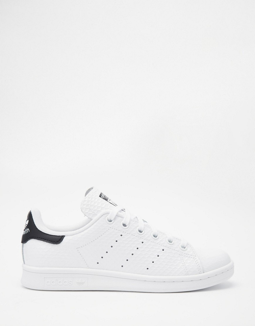 Image 2 of adidas Originals Stan Smith White & Black Sneakers