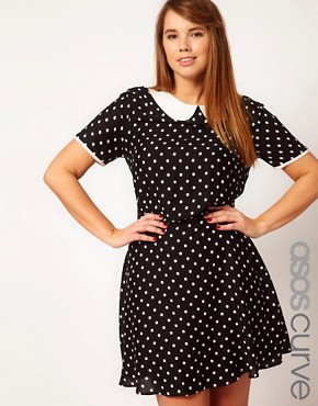 Image 1 of ASOS CURVE Exclusive Tea Dress In Spot