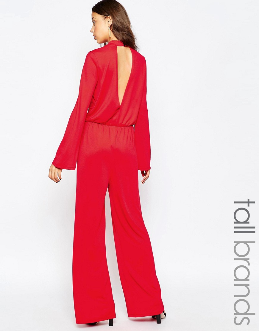 Image 1 ofVero Moda Tall Keyhole Back Wide-Leg Jumpsuit