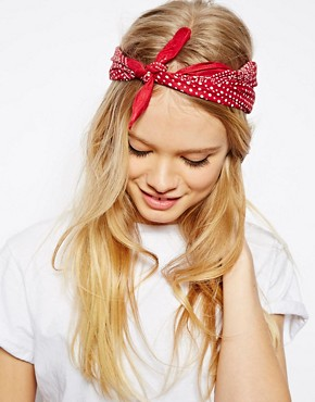 Image 1 of ASOS Polka Dot Headscarf Neckerchief