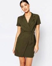 Image 1 ofMissguided Utility Wrap Dress