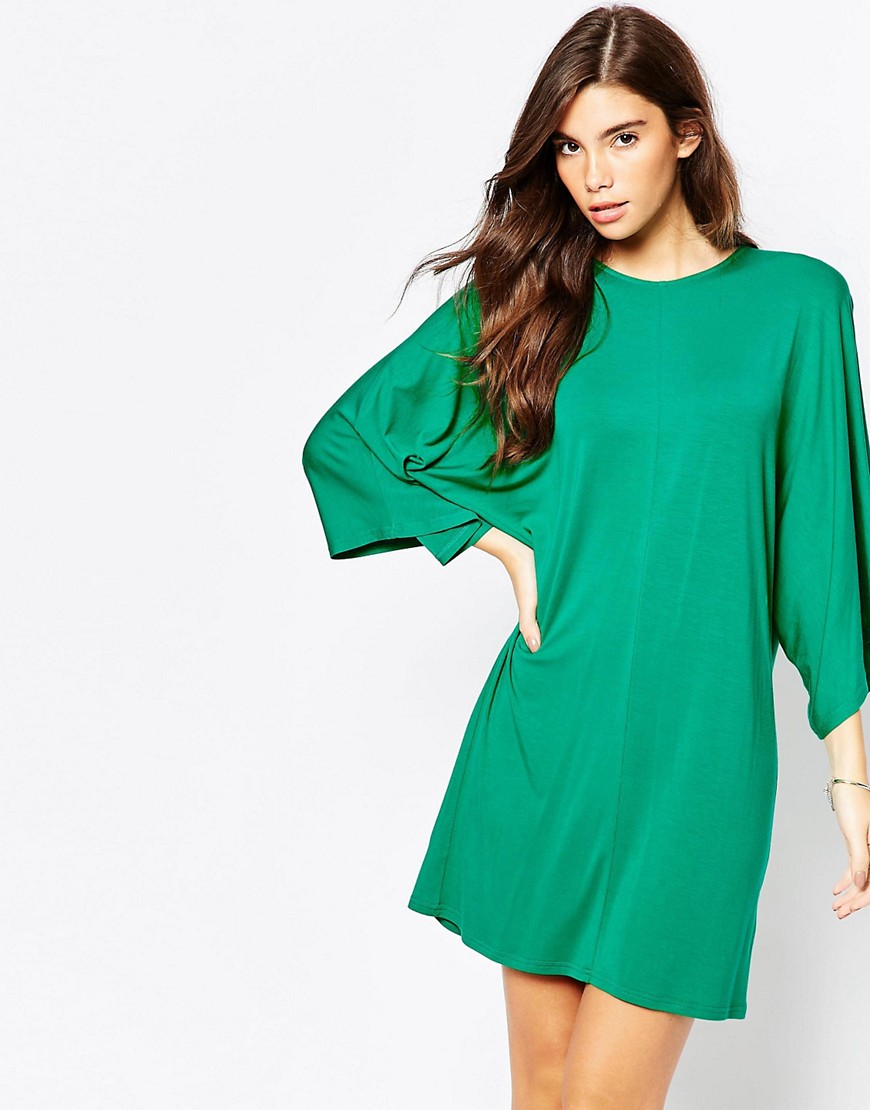 Image 1 of ASOS T-Shirt Dress with Kimono Sleeves