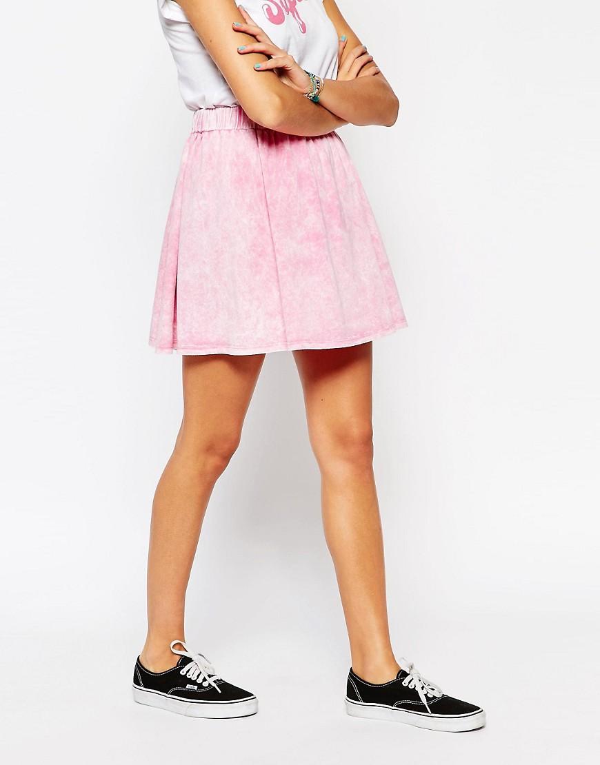 Image 4 ofASOS Washed Skater Skirt
