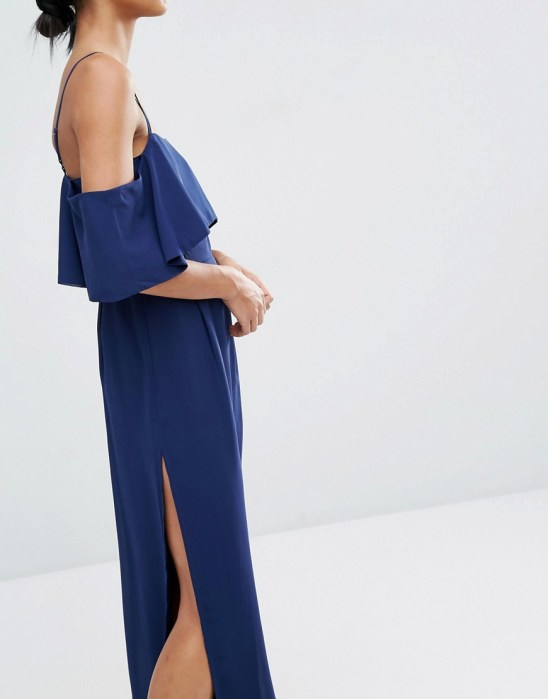 off the shoulder Asos maxi dress for Work in Progress August lust list
