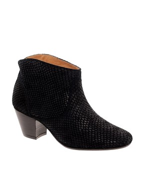 Image 1 of H by Hudson Mirar Black Heeled Ankle Boots