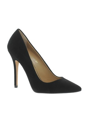 Image 1 of Whistles French 75 Black Suede Court Shoes