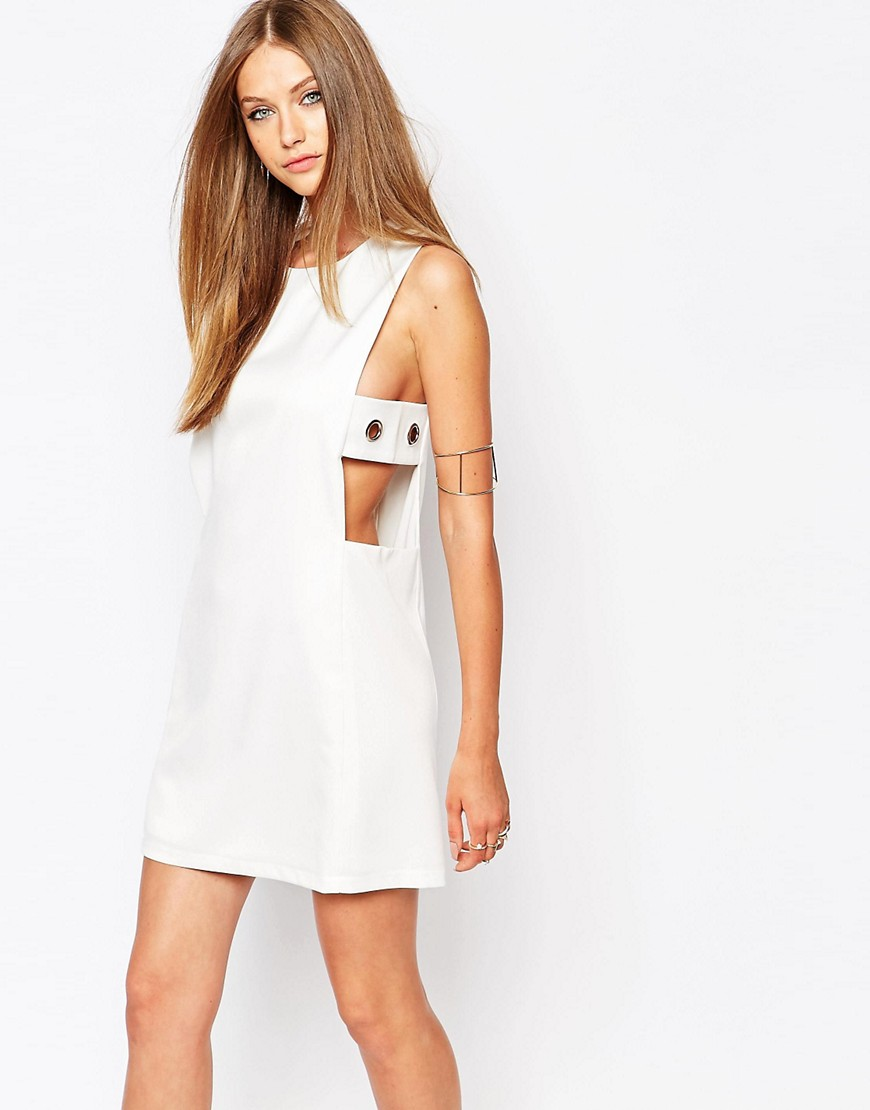 Image 1 of Missguided Eyelet DetailShift Dress