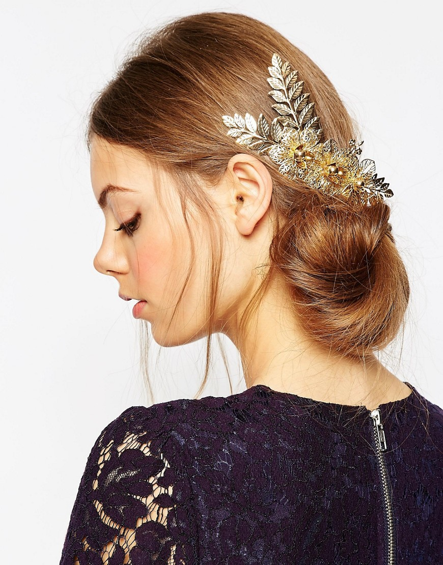 Image 1 of ASOS Flower Vine Hair Comb