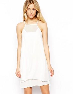 ASOS Cami Dress With Mesh Insert