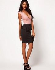 Oh My Love Chiffon Peplum Pencil Skirt