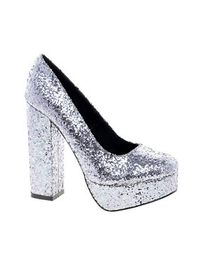 Image 1 of Black Secret Sequin Shoe