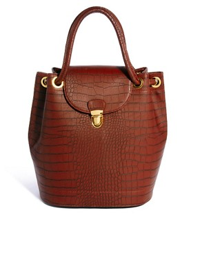 Image 1 of ASOS Croc Constructed Bag