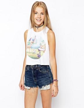 Image 1 - ASOS - T-shirt court imprimé Bambi