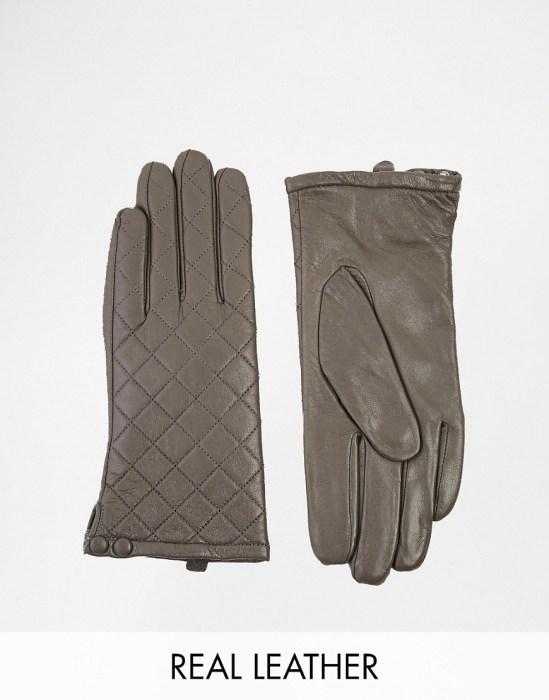 Image 1 ofLiquorish Quilted Leather Gloves