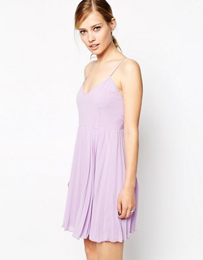 Image 1 of ASOS Cami Mini Pleated Dress