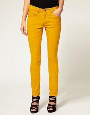 Image 1 of ASOS Skinny Jeans in Mustard #4