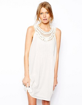 Mango Crochet Top Swing Dress