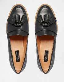 Image 3 ofNew Look Premium Real Leather Tassel Loafer