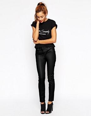 Imagen 1 de Pantalones pitillo de cuero de ASOS