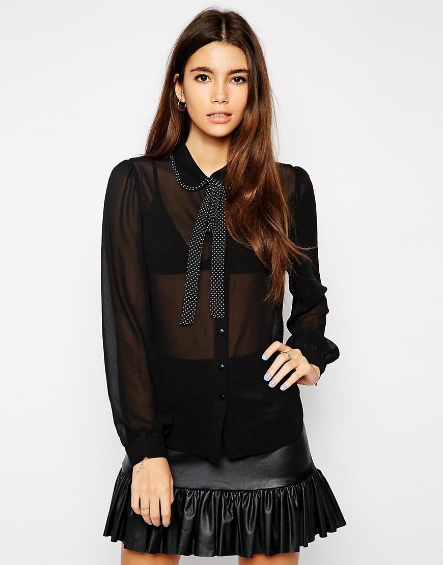 Imagen 1 de Camisa con lazo de The Style