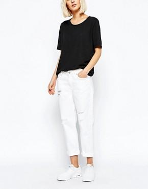 Weekday - Ami - Jeans boyfriend vita medio alta elasticizzati e invecchiati