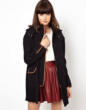 Image 1 - Sessun - Parka en laine avec renforts en cuir