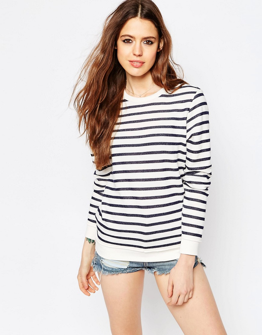 Image 1 of ASOS Ultimate Boyfriend Sweat In Stripe