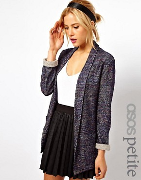 Image 1 of ASOS PETITE Blazer In Textured Boucle