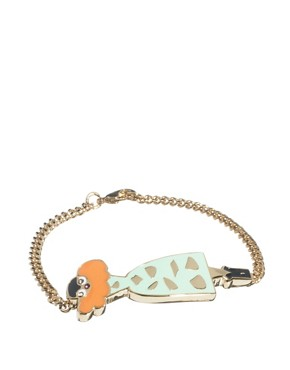 Image 1 of Libertine By Giles Deacon 18ct Gold Plated Bracelet With Enamel Lady