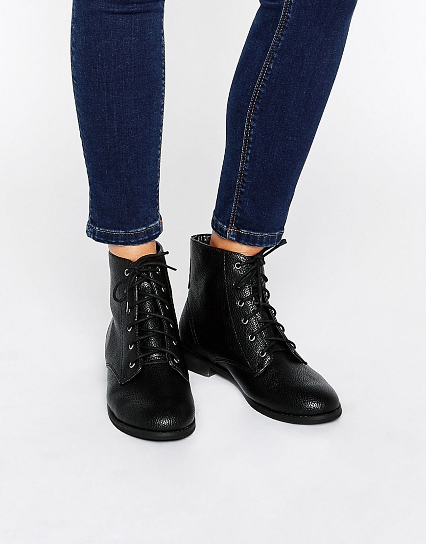 ASOS ANGEL Lace Up Ankle Boots