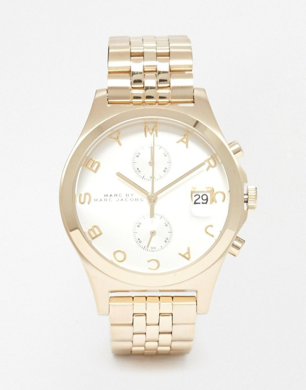 Image 1 of Marc By Marc Jacobs Slim Chronograph Watch MBM3379