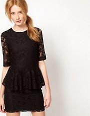 Vero Moda Lace Peplum Dress