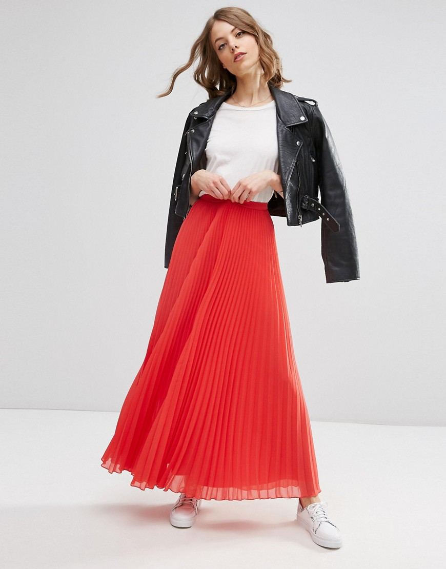 Image 1 of ASOS Pleated Maxi Skirt