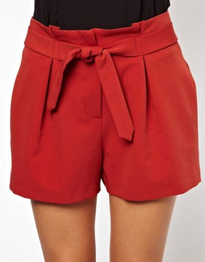 Image 3 of ASOS Shorts with Belted Waist Detail