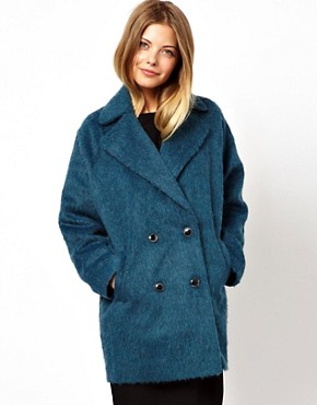 ASOS Brushed Double Breasted Coat