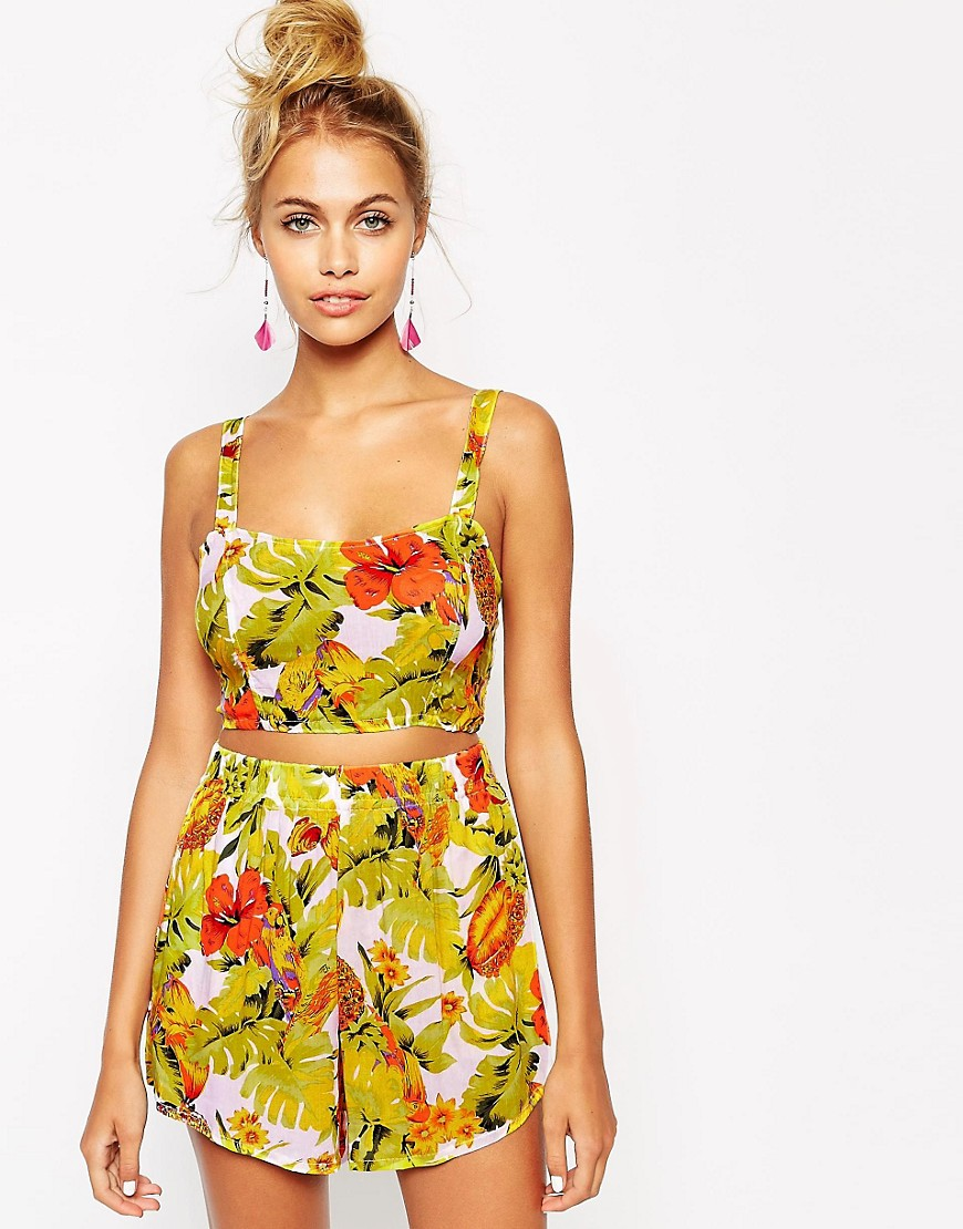 Image 1 ofMotel Parrot Beach Crop Top Co ord