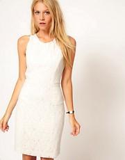 Oasis Lace Peplum Dress