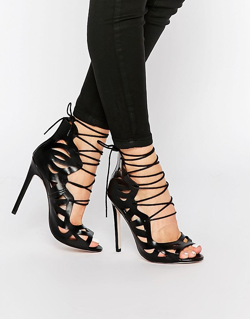 Image 1 ofASOS PASTIME Lace Up Heels