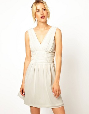 Image 1 of ASOS Ruched Sleeveless Skater Dress