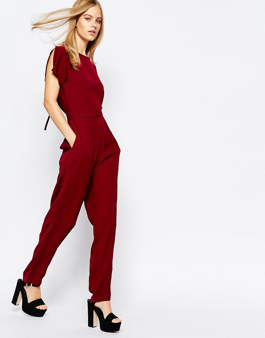Image 1 ofLost Ink Wide Leg Jumpsuit with Open Back