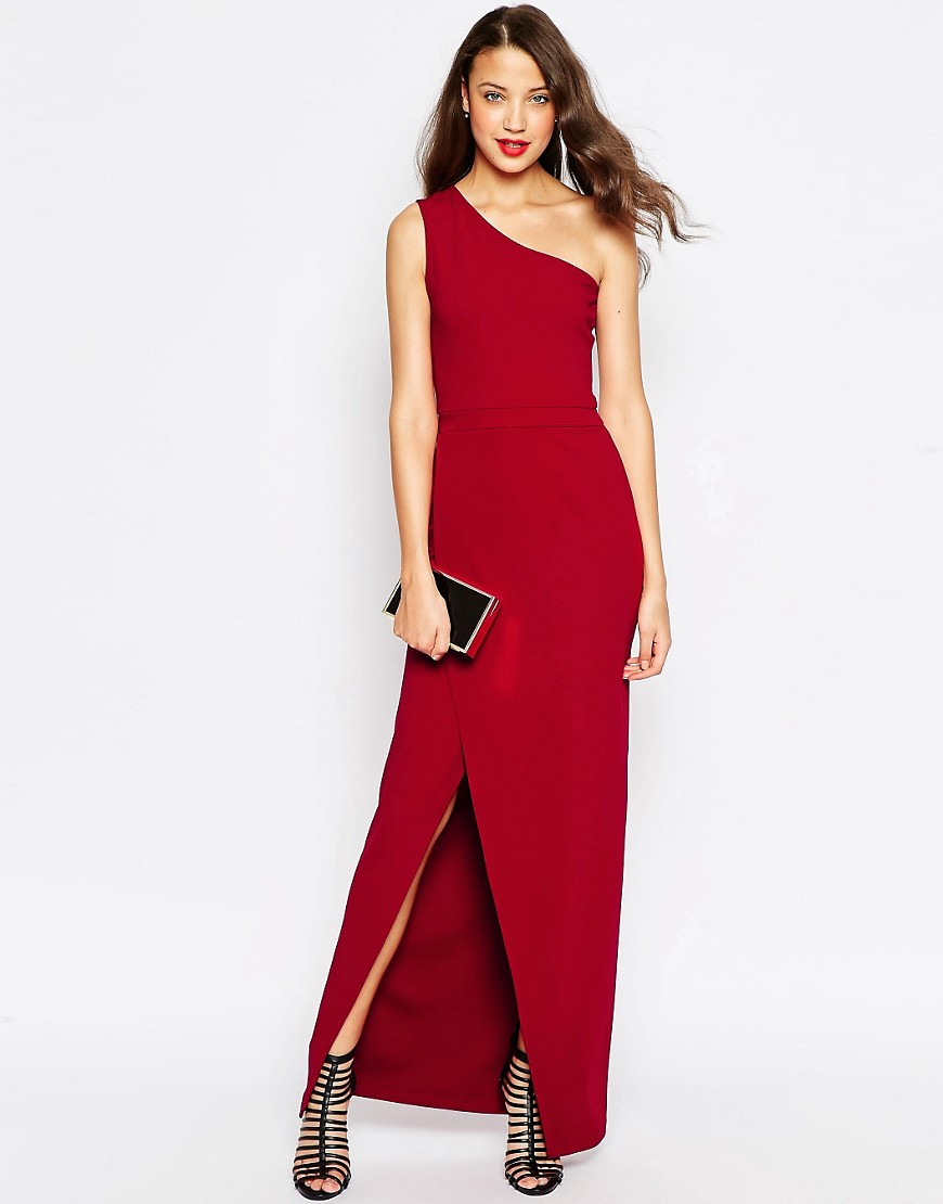 Image 4 of ASOS TALL Exclusive Red Carpet One Shoulder Maxi Dress