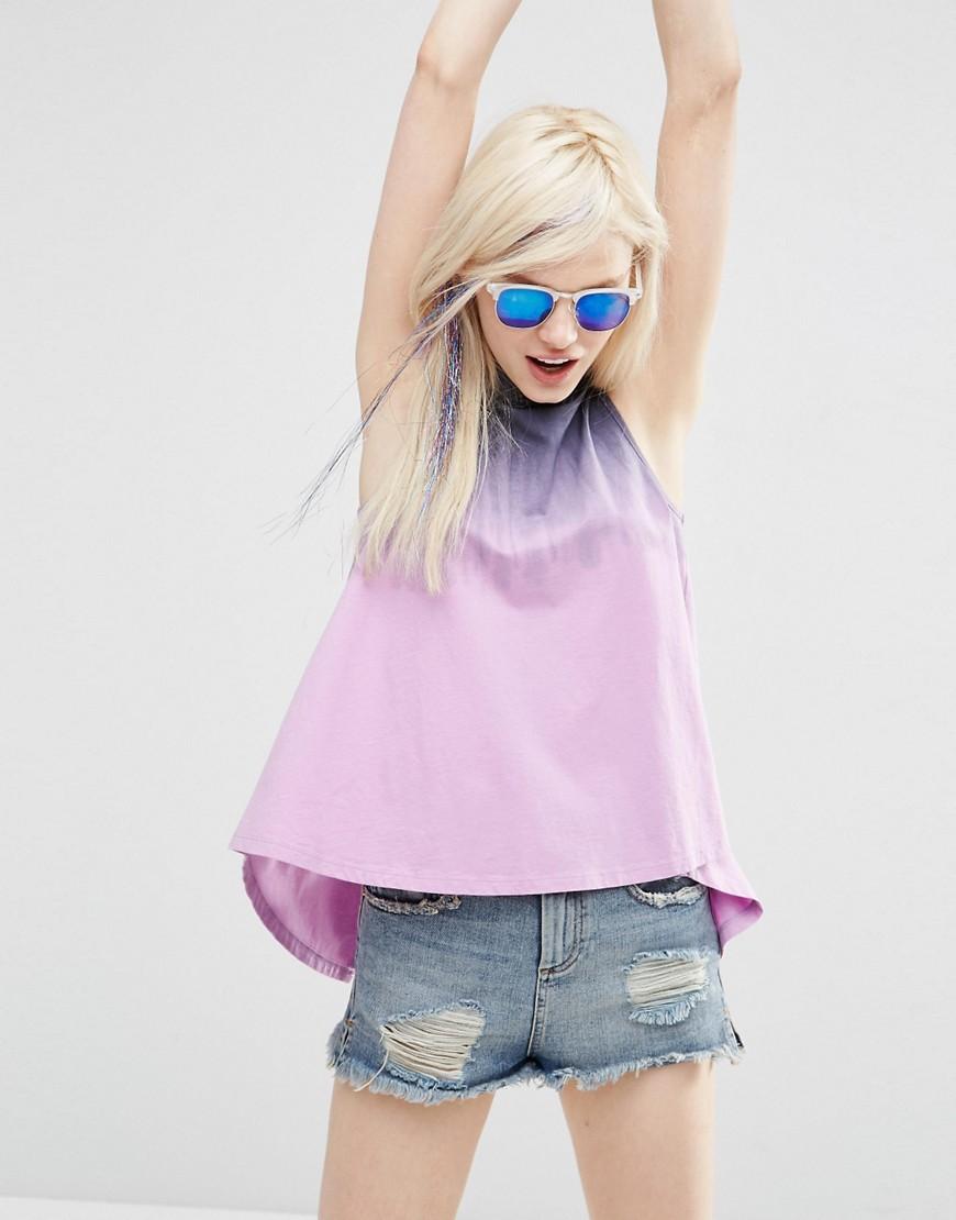 Image 2 - ASOS - T-shirt effet tie-dye avec dos fendu